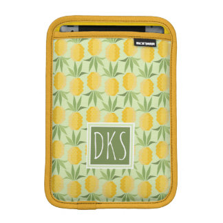 Retro Pineapples | Monogram Sleeve For iPad Mini