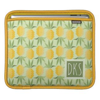 Retro Pineapples | Monogram Sleeve For iPads