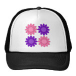 Retro Pink and Purple Flowers Hat