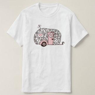 Retro pink Black and White Glamper T-Shirt