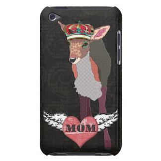Retro Pink & Black Pretty Fawn Mom Case Barely There iPod Case