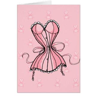 Retro Pink Corset Card