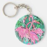 Retro Pink Flamingo Bird Keychains Flamingos Birds