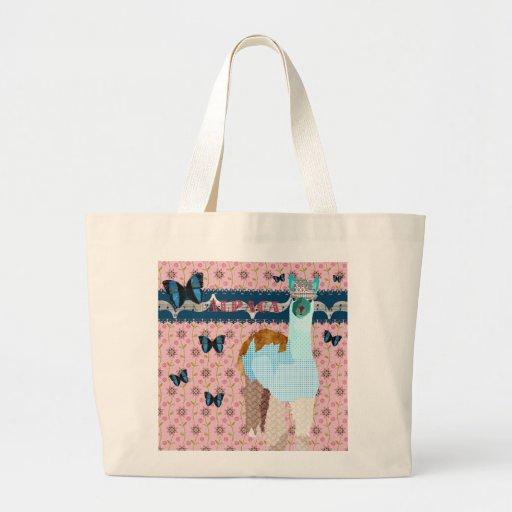 Retro Pink Floral Alpaca Bag