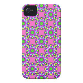 Retro Pink Flower Power iPhone Case iPhone 4 Case-Mate Cases