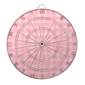 Retro Pink Gingham Checkered Pattern Background Dartboard