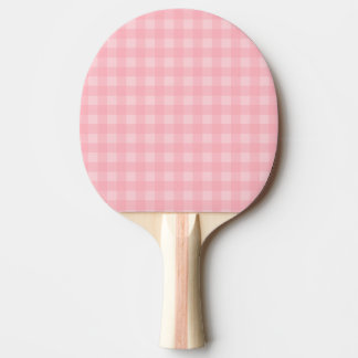 Retro Pink Gingham Checkered Pattern Background Ping Pong Paddle