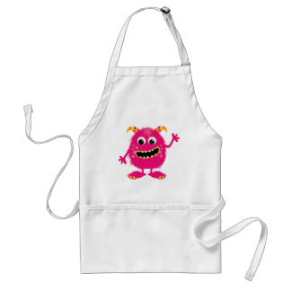 Retro Pink Girly Monster Aprons