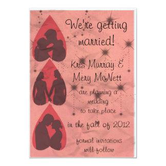 Retro Pink Invitations/Announcements 13 Cm X 18 Cm Invitation Card