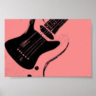 Retro Pink Music Poster