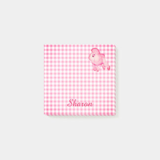Retro Pink Poodle Personalised Notes
