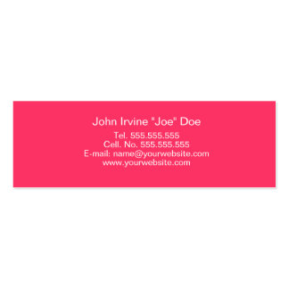 Retro Pink Profile Card Business Cards