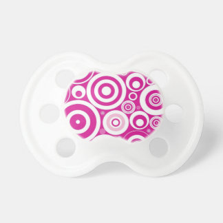 Retro Pink Purple Circles Pattern Pacifier