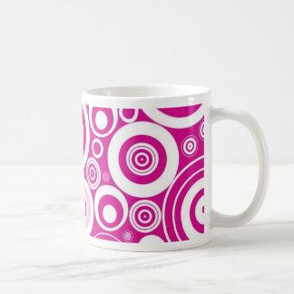Retro Pink Purple Circles Pattern Mug