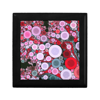 Retro Pink Red Polka-dot Small Square Gift Box