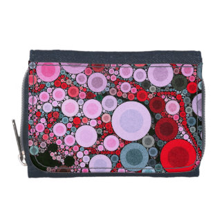 Retro Pink Red Polka-dot Wallet