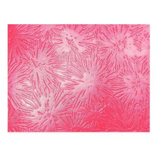 Retro pink salmon linoleum plastic pattern art post cards