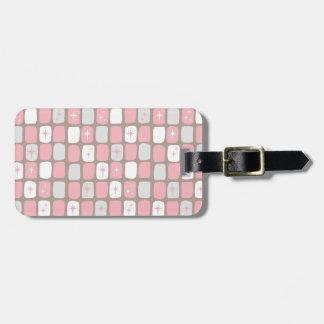 Retro Pink Starbursts Luggage Tag