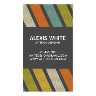 Retro Pinstripe - Style 1 Pack Of Standard Business Cards