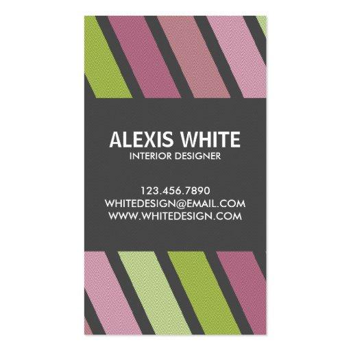 Retro Pinstripe - Style 2 Business Card Templates