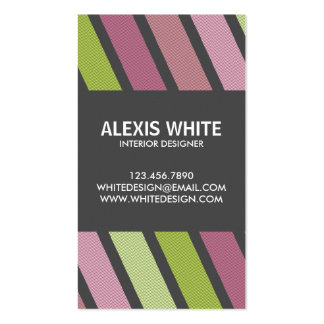 Retro Pinstripe - Style 2 Pack Of Standard Business Cards