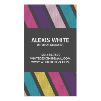 Retro Pinstripe - Style 3 Pack Of Standard Business Cards