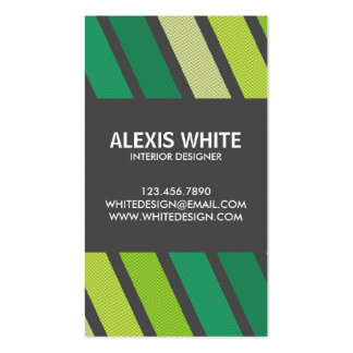Retro Pinstripe - Style 4 Pack Of Standard Business Cards