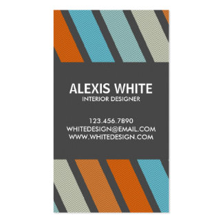 Retro Pinstripe - Style 5 Pack Of Standard Business Cards