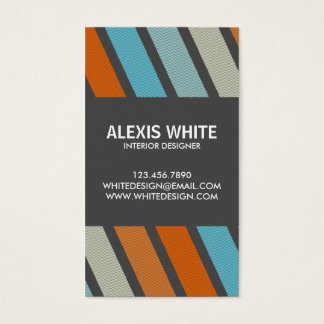 Retro Pinstripe - Style 5 Business Card