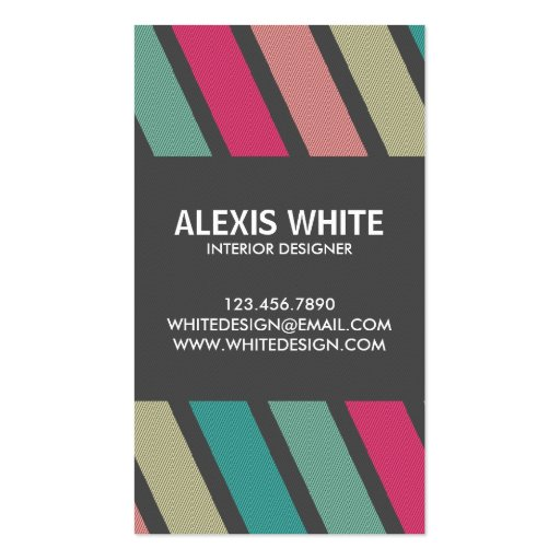 Retro Pinstripe - Style 6 Business Cards