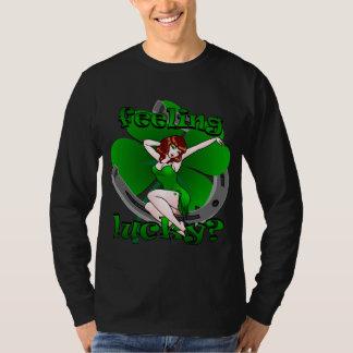 Retro Pinup Girl Shirt Lucky Irish Pinup Shirt