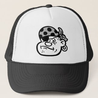 Retro Pirate Trucker Hat