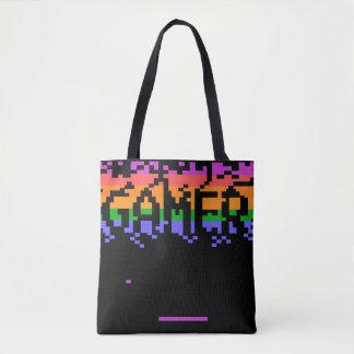 Retro Pixelated Gamer Tote Bag