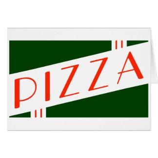 retro pizza note card