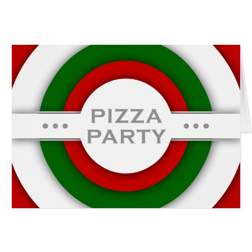 retro PIZZA party Cards