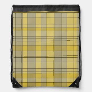 Retro Plaid Drawstring Backpack