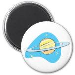 Retro Planet Saturn Fridge Magnet