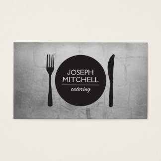 Retro Plate Logo for Chefs, Catering, Restaurants Business Card