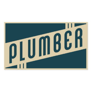 retro plumber pack of standard business cards