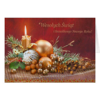 Retro Polish Christmas and New Year Card