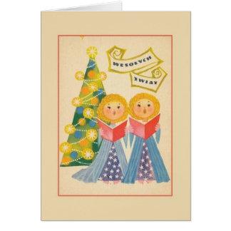 Retro Polish Christmas Greeting Card