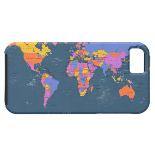 Retro Political Map of the World iPhone 5 Case
