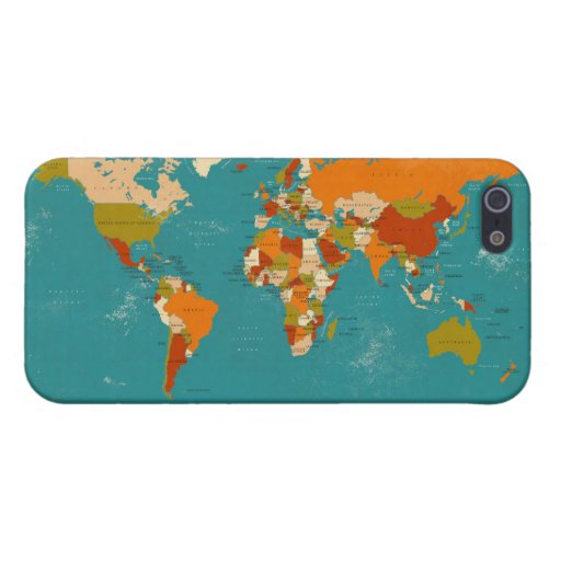 Retro Political Map of the World Case For The iPhone 5