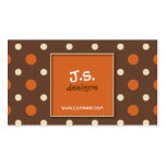 Retro Polka Dot Business Card