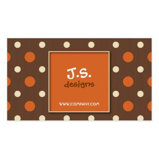 Retro Polka Dot Business Card