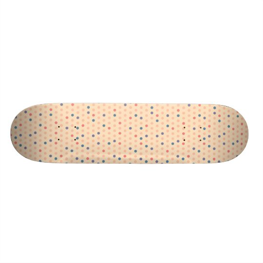 Retro Polka Dot Custom Skateboard
