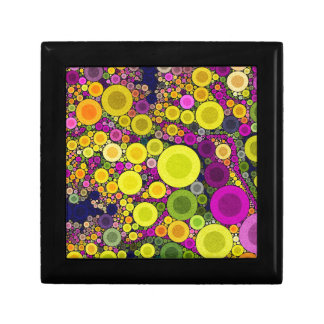 Retro Polka Dot Small Square Gift Box