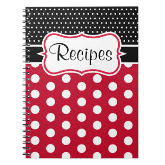 Retro Polka Dot Kitchen Recipe Notebook Gift