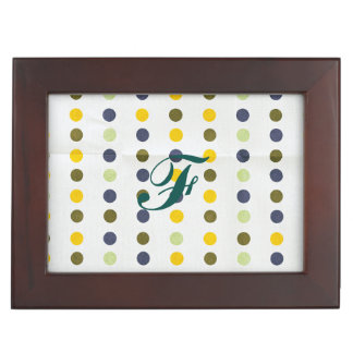 Retro,polka dot,pattern colors,trendy,earthy,chic, keepsake box