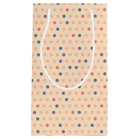Retro Polka Dot Small Gift Bag